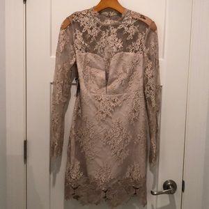 Saylor Nude lace Leondra dress